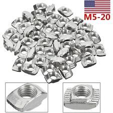 10Pcs TNut M5 Drop In for 20 Series Aluminum Slot 10x6x4mm 3D Printer CNC USA