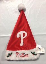 Philadelphia Phillies Team Logo Holiday Plush Santa Hat Christmas Solid Red