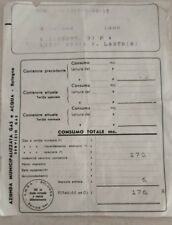 Azienda Municipalizzata Gas e Acqua Bologna bolletta vintage 1959 AMGA
