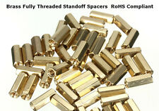 M3 x 12mm Female Hexagonal Brass Threaded Standoff Spacers PCB Hex Pillars