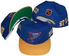 St. Louis Blues Vintage Blue/Yellow Side Script Adjustable Snap Back Hat