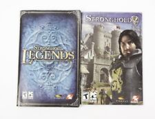 Stronghold Legends AND Stronghold 2 PC Game Manual Instructions Firefly Studios