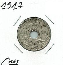 25 CENTIMES SOULIGNES LINDAUER 1917