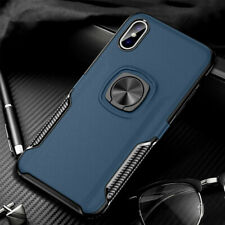 For iPhone 8 Plus 6s 7 XS Max XR Heavy Duty Magnetic Stand Silicone Case Cover