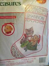 Hat Box Surprise Stocking & Ornament Cross Stitch Kit -10x16 Inches (25x41 c