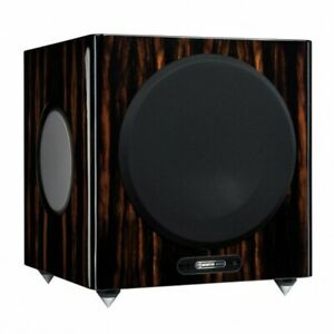 SUBWOOFER ATTIVO MONITOR AUDIO GOLD W12 5G PIANO EBONY CASSE SPEAKERS