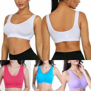 Lady Sports Bra Vest Underwear Seamless Comfortable Top Fitness Yoga Underwear