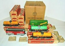 MARX LOT OF TINPLATE O GAUGE ROLLING STOCK WITH MASTER BOX 12 CARS