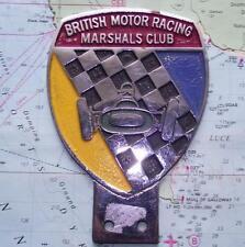 Old Painted Chrome Car Mascot Badge : British Motor Racing Marshals Club