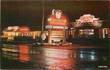 1950s Night Neon Longhorn Palace Restaurant North Woodstock New Hampshire 12675