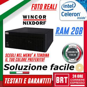 MINI PC DESKTOP POS WINCOR NIXDORF BEETLE MI 2 II PLUS CELERON RAM 2GB NERO TOP!