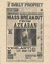 Harry Potter The Daily Prophet Mass Breakout From Azkaban Flyer/Poster Replica