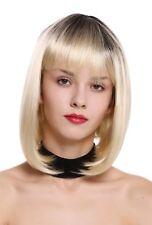 Wig me Up peluca de mujer Bob Longbob Pony Ombre negro Rubio claro