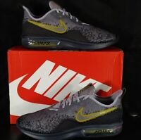 Nike Air Max Sequent 4 Gridiron/Mtlc Pwtr AO4485 003 Running Shoes Mens Size 10