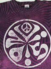 Vintage 1987 Peace Vision Psychedelic Purple Tie Dye T Shirt Vision Street Wear