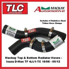Mackay Top & Bottom Radiator Hose Isuzu D-Max DMAX 3.0 Diesel 10/08-05/12 4JJ1