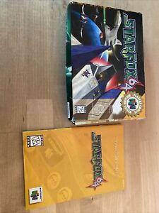 Star Fox 64 N64 Box & Instructions
