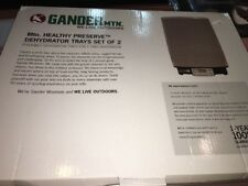 GANDER mtn. Stackable Dehydrator Trays Set Of 2 - For 5 Tray Food Dehydrator-New