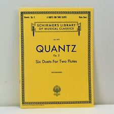 Quantz Six Duets for Two Flutes Schirmers Library of Musical Classics Hl502616