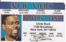 Chris Rock Drivers License star of  Madagascar film series as MARTY the ZEBRA