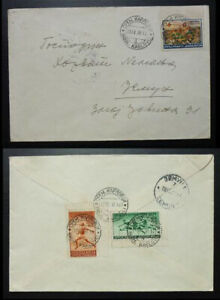 Yugoslavia 1938 Red Cross - Sport Balkan Games Stamps on Cover to Serbia A1