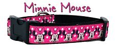 """Minnie Mouse Dog collar handmade adjustable buckle 1"""" or 5/8"""" wide or leash"""