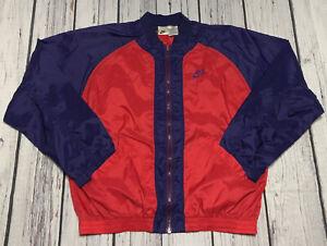 Vintage 90's Nike Track Jacket Boys Size XL Swoosh Spellout Nylon Athletic 18-20