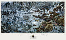 Bastogne James Dietz Autographed Band of Brothers 101st Airborne WWII Art Print