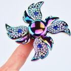 Diamante Aleación mano con giro Fidget Dedo puntas de los PUPITRE Juguete EDC