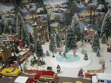 """TRAIN HOUSE CARNIVAL VILLAGE  """" ICE SKATING in the PARK  """" + DEPT 56/LEMAX info"""