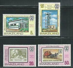 Swaziland Scott # 338-341 MNH 10th Anniversary UPU Membership