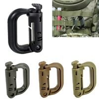Tactical Military Molle Locking Webbing Snap Clip Buckle D-ring Carabiner