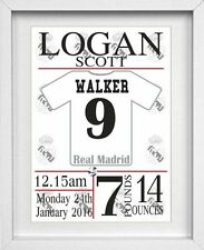 BABY BOY NAME | Personalised Picture | Real Madrid | Football |FREE POST|(NP118)