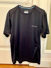 Columbia mens athletic tee shirt black Omni Freeze Advanced Cooling sz M Euc