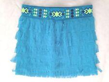 Teal Green Sz 10 JUSTICE Spandex Dangle Skirt