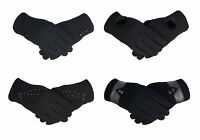 Ladies Touch Screen 100% Cotton Gloves One Size Soft Warm Thermal Fleece Lined