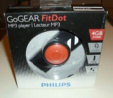 New Philips GoGear FitDot 4GB MP3 Player - sealed box