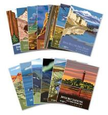 SET of (12) USA National Conservation Land Posters - w/ FREE Bonus Print 18x24