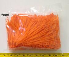 1000 Piece Orange Wire Cable Industrial Zip Ties Nylon Wrap 4 Inch 18 Test