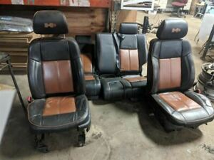 Driver Front Seat Bucket Electric Leather Fits 06-10 HUMMER H3 224076