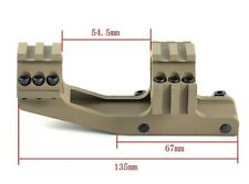 Tactical  1inch Dark Earth / Tan Dual Tri-Rail Cantilever Ring Scope Mount PEPR