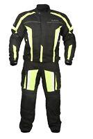 Mens Armoured Motorbike Cycle Racing Suit Jacket CE Waterproof Cordura Textile