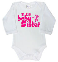 Dirty Fingers Long Sleeve Bodysuit, I'm the Baby Sister, Newborn Gift