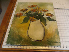 "Original ROSE SUSLOVICH ART: FLOWERS IN WHITE VASE, 24x18"", signed, on board"