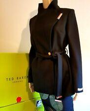 TED BAKER LONDON KEYLA BLACK CASHMERE WRAP COAT UK 10 TED 2 US 6 RRP £269 BNWT