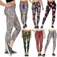 Womens Printed Yoga Pants Ladies Gym Fitness Running Sports Full Length Legging