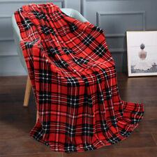 "Super Soft Plush Fleece Throw Blanket Light Weight 50"" x 60"" Vintage Plaid"
