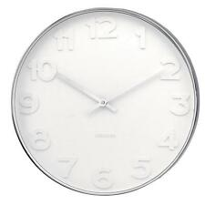 Karlsson Wall Clock Mr. White Numbers Steel Case Small 37.5cm