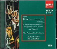 Rachmaninov: Concerto N.2, Rapsodia Su Un Tema Di Paganini / Gavrilov Muti - CD