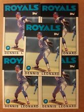 1986 TOPPS TRADED #65T KANSAS CITY ROYALS DENNIS LEONARD 5 CARD LOT NM/MT 01841